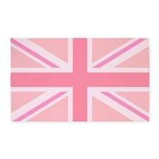 Union Jack/flag Pinks 3'x5' Area Rug