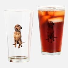 Red Bone Coon Hound Drinking Glass
