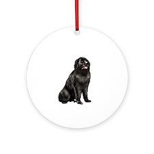 Newfoundland (blk sit) Ornament (Round)