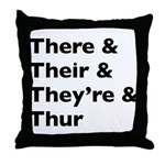 Funny Play on words Throw Pillow