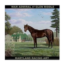 War Admiral At Glen Riddle Tile Coaster