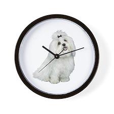 Maltese (cutiepie) Wall Clock