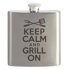 Keep Calm Grill On Flask