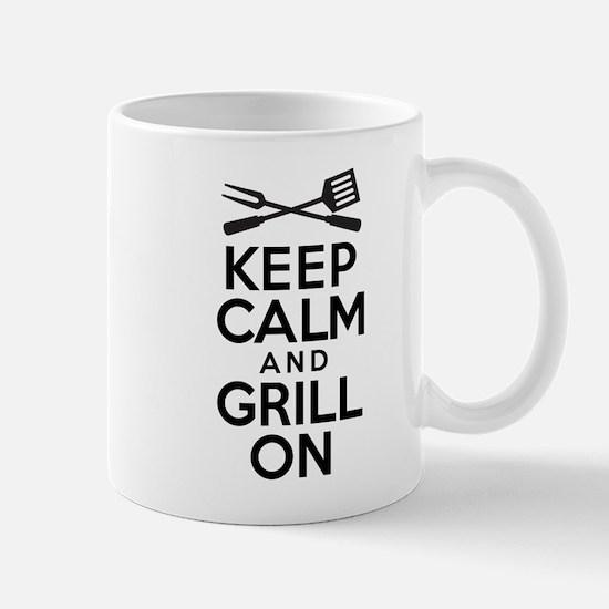 Keep Calm Grill On Mugs