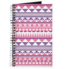 Aztec Pink Purple Pattern Journal