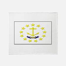 Flag of Rhode Island Throw Blanket