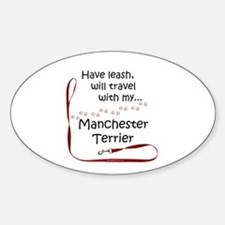 Manchester Travel Leash Oval Decal