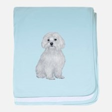 Maltese (#2) baby blanket