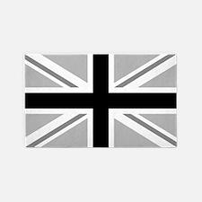 Union Jack/flag Monochrome 3'x5' Area Rug