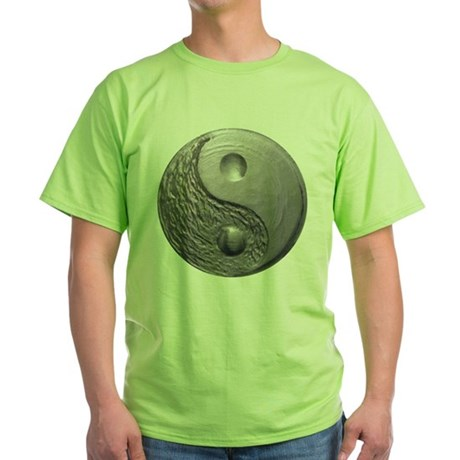 Yin Yang Tao Optic Green T-Shirt