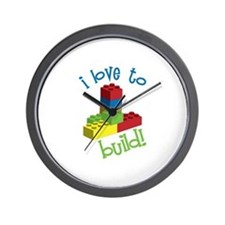I Love To Build Wall Clock