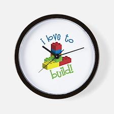 I Love To Build Wall Clock