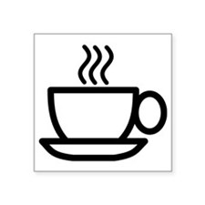 "Mug Square Sticker 3"" x 3"""