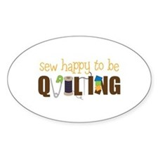 Sew Happy Decal