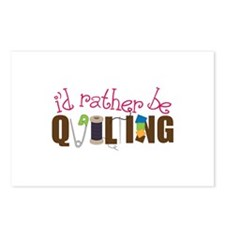 Is Rather Be Quilting Postcards (Package of 8)