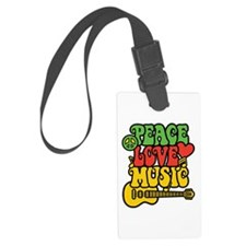 Peace-Love-Music Luggage Tag