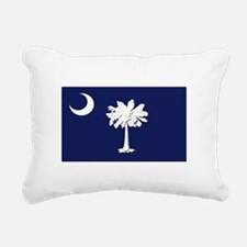 Flag of South Carolina Rectangular Canvas Pillow