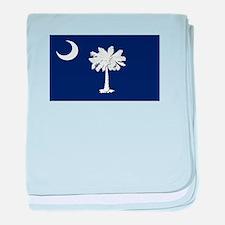 Flag of South Carolina baby blanket