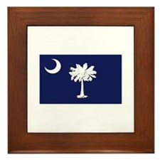 Flag of South Carolina Framed Tile