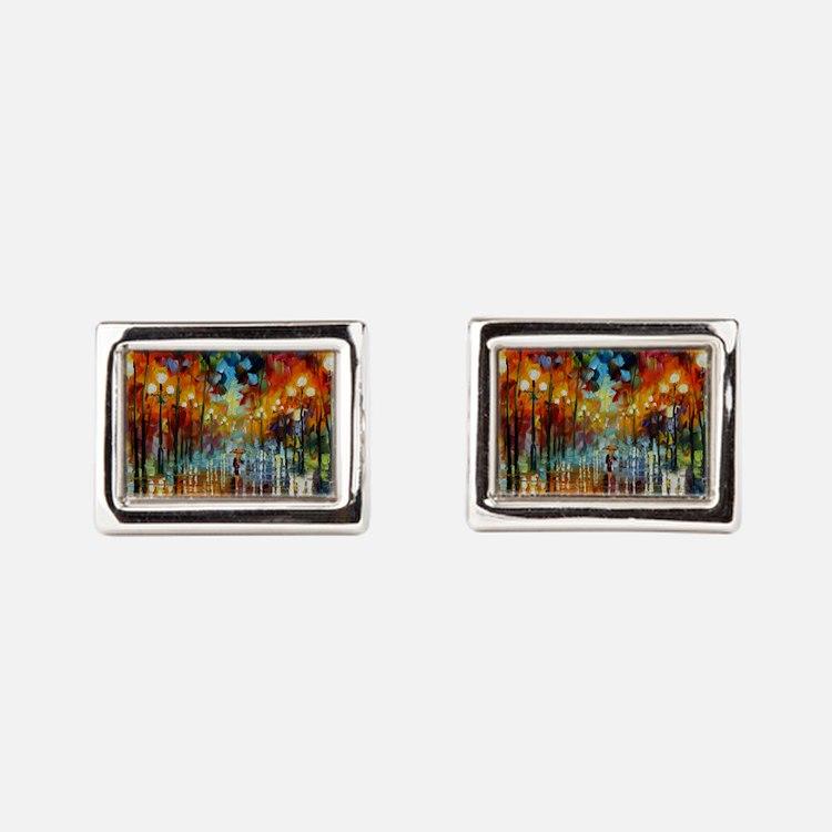art Rectangular Cufflinks