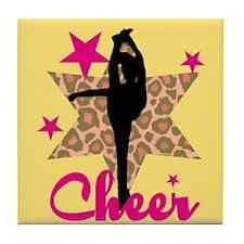 Pink Cheerleader Tile Coaster