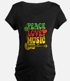 Peace-Love-Music Maternity T-Shirt