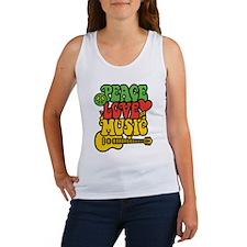 Peace-Love-Music Tank Top