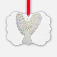 Rainbow Hearts Angel Ornament