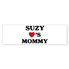 Suzy loves mommy Bumper Bumper Sticker