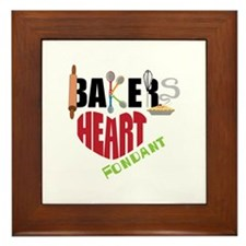Bakers Heart Fondant Framed Tile