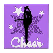 Purple Cheerleader Tile Coaster