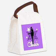 Purple Cheerleader Canvas Lunch Bag