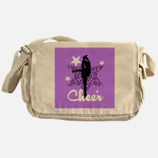 Purple Cheerleader Messenger Bag