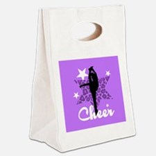 Purple Cheerleader Canvas Lunch Tote