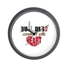 Builders Construct Wall Clock