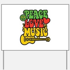 Peace-Love-Music Yard Sign