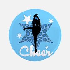 """Blue Cheerleader 3.5"""" Button"""