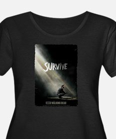 Survive Walking Dead Women's Plus Size T-Shirt