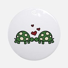 Love Turtles Ornament (Round)