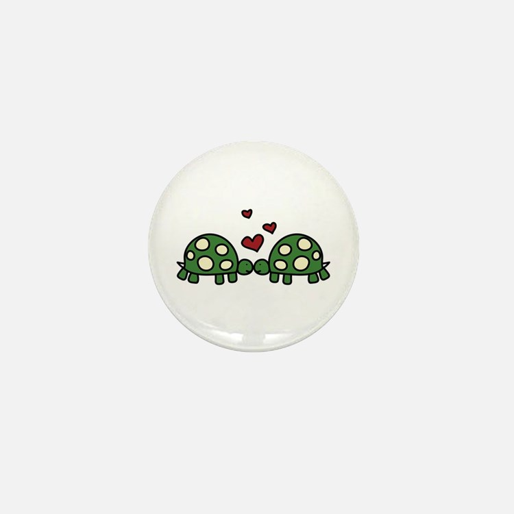 Love Turtles Mini Button