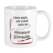 Mini Schnauzer Travel Leash Mug