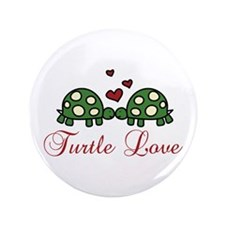 "Turtle Love 3.5"" Button (100 pack)"