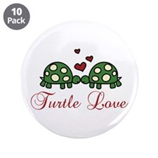 """Turtle Love 3.5"""" Button (10 pack)"""
