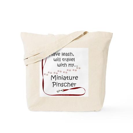 Min Pin Travel Leash Tote Bag