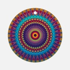 Fire and Ice mandala Ornament (Round)