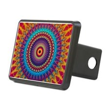Fire and Ice mandala Hitch Cover