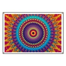 Fire and Ice mandala Banner