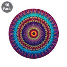 "Fire and Ice mandala 3.5"" Button (10 pack)"