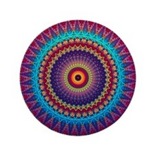 """Fire and Ice mandala 3.5"""" Button"""