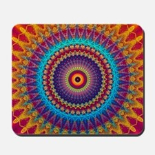 Fire and Ice mandala Mousepad